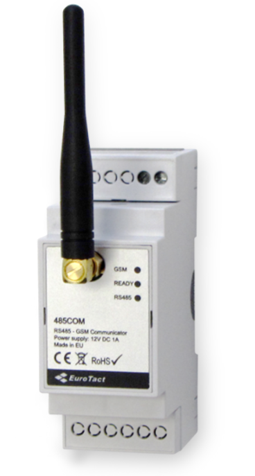 485COM is a communicator designed for wireless data transmission from electronic meters via GSM network.